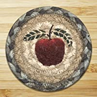 Earth Rugs 31-IC042A Apple Round Printed Coaster, 5