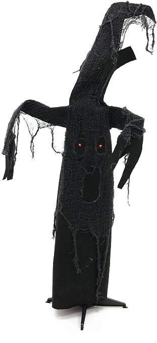 LED-Augen /& Sound Arme /& Kopf animiert Halloween Figur Schwarzer Baum