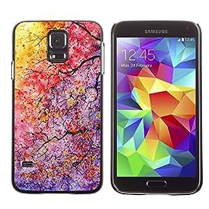 PC/Aluminum Funda Carcasa protectora para Samsung Galaxy S5 SM-G900 Colors Tree Branches Leaves / JUSTGO PHONE PROTECTOR