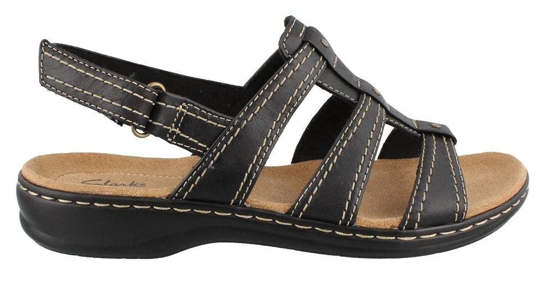 Clarks Leisa Daisy Womens Black Sandal 9.5-MEDIUM B00NBGSWZK Parent