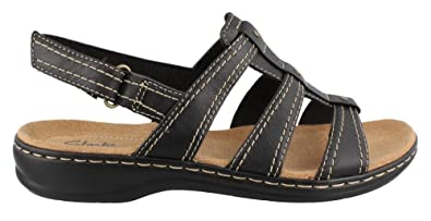 8435e7029 Image Unavailable. Image not available for. Color  CLARKS Leisa Daisy Womens  Black Sandal 8.5-MEDIUM