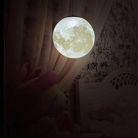 MQFORU Lámpara de techo colgante de luna de 20,32 cm, 25,4 ...