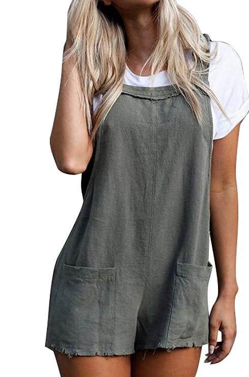 4a0340bec8e Amazon.com  Francis4 Womens Sexy Solid Color Cutoffs Loose Short ...