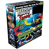 Magic Tracks 220-Piece Glow-in-the-dark Racetrack and Car Play Set