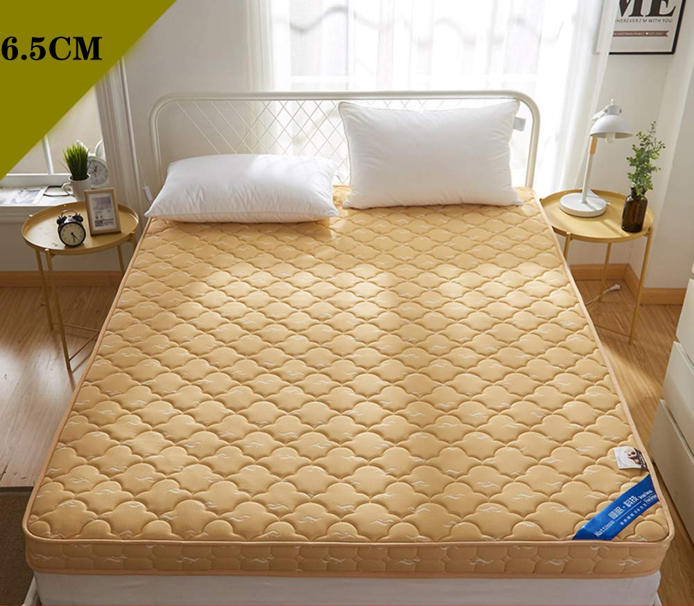 E-6.5cm 120x200cm(47x79inch) Thicken Memory Foam Mattress,Fluffy Foldable Quilted Fitted Tatami Mattress Hypoallergenic Extra-Cushy Damp-Proof Mattress Topper-C-6.5cm 100x200cm(39x79inch)