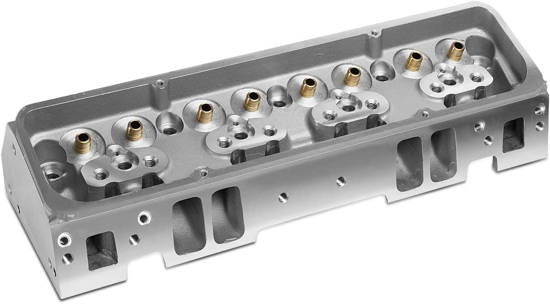DNA Motoring LEPOW-038 Aluminum Bare Angled Cylinder Head For Chevy SBC 302 327 350 383 400