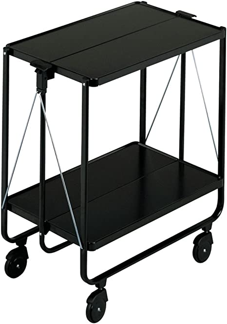 Leifheit Side Car Collapsible Serving and Equipment Trolley - Black