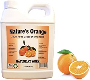 Natures Orange 100% Pure Food Grade D-Limonene (Orange Oil Limonene Extract. Citrus Cleaner, Degreaser, and Deodorizer) 32 Fl. oz