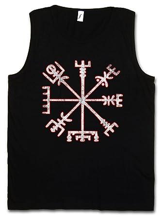 Vegvisir Viking Compass Mens Sleeveless Black Tee Shirt V6uiPfd