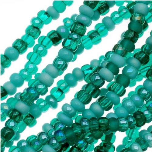 Czech Seed Beads Mix 11/0 Turquoise Fetish Blue Green (1 Hank/4000 Beads)