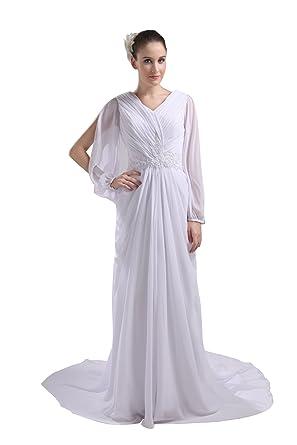 faa64863f1ac9 フォーマルドレス ミセス パーティードレス 大きいサイズ ロング 長袖 白 40代 イブニングドレス ロング A ...