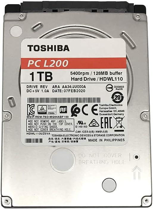 Toshiba L200 HDWL110UZSVA 1TB 5400RPM 128MB Cache (7mm) 2.5inch SATA 6.0Gb/s Internal Notebook Hard Drive - 2 Year Warranty