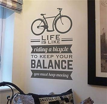 pegatinas de pared harry potter La vida es como andar en bicicleta para mantener el equilibrio, debes seguir moviéndote: Amazon.es: Bricolaje y herramientas