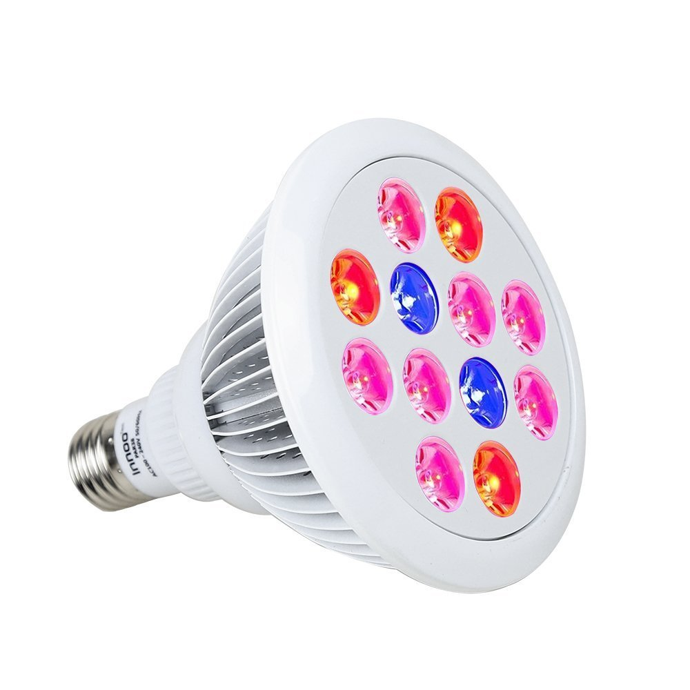 Innoo Tech Plant Grow Light Bulb for Indoor Garden Bonsai - 24W E27 Hydroponic LED Greenhouse Lamp for Flower Plants Vegetable Seeds Seaweed Growth
