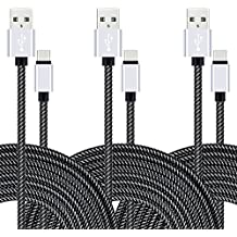 Type C USB Charging Cable, VICOX 3 Pack 10Ft Braided USB C Fast Charger Data Cable for Galaxy Note 8 S9 S9+ S8 Plus S8+ LG G5 G6 V20 K30 Google Pixel 2 XL Oneplus 3T 5T 6 Moto Z Z2 Nintendo Switch