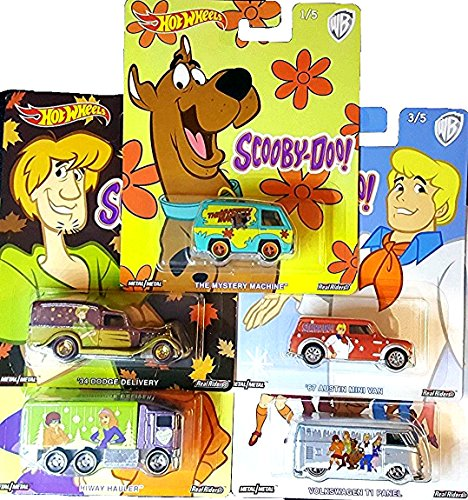 - Hot Wheels Scooby Doo Complete Set of Die Cast Vehicles 2018 Release Real Riders