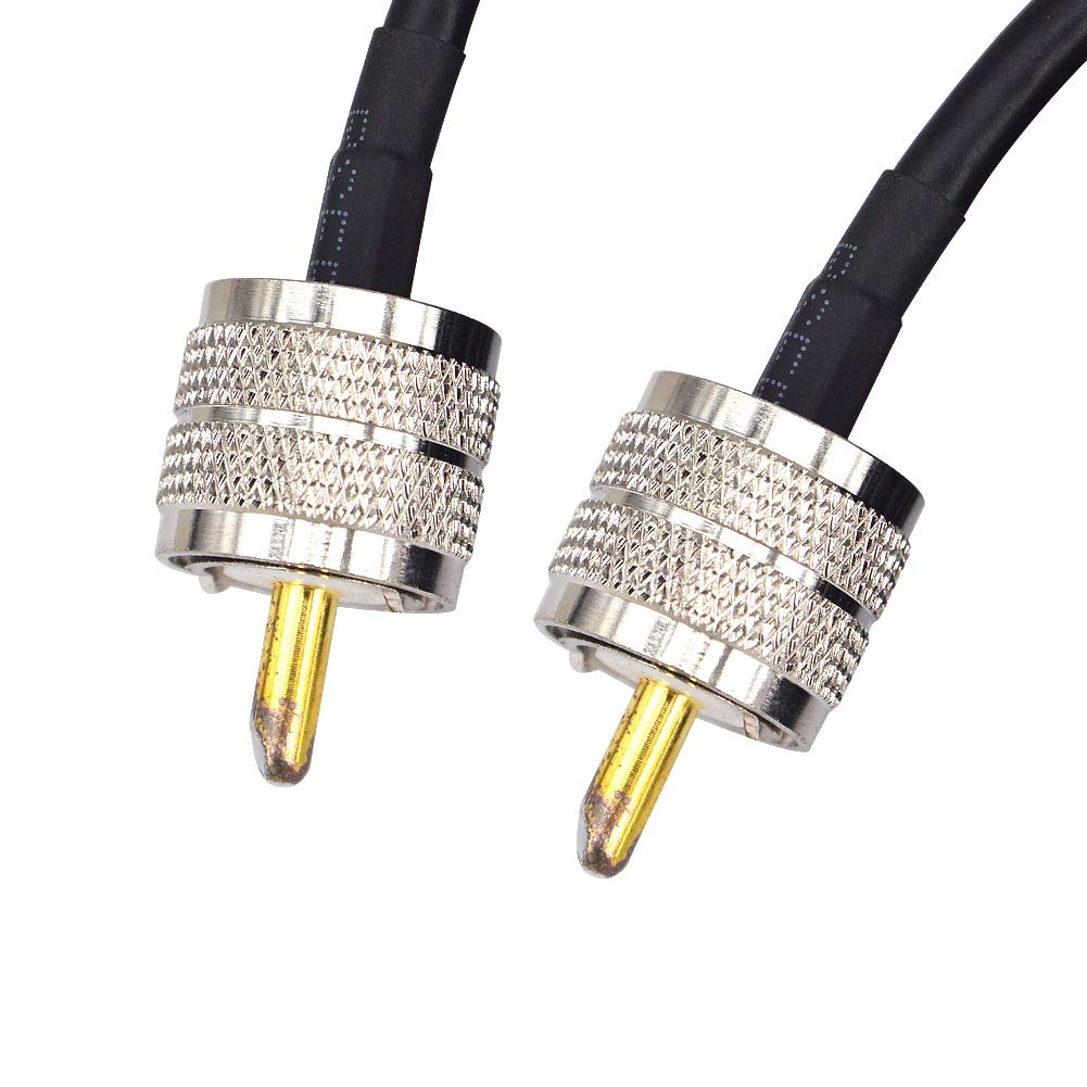 RG58 15M Low Loss UHF PL-259 Male to Male WiFi Antenna Cable Coaxial PL259 Coax Connectors for Ham or CB Radio Antenna Extension Coax for VHF HF Radio rg58 Coax Cable by YOTENKO (Image #5)