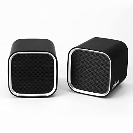 Moloroll Computer Speakers for Desktop PC, Laptop, Mac, USB Powered, Small  Wired 2 0 Channels Dual Stereo Clear with Bass Less Distortion