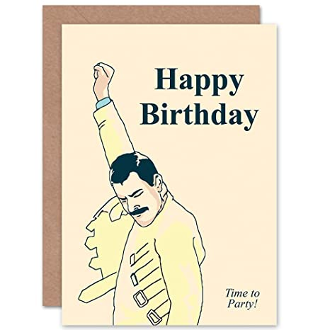 Amazon.com: New Cumpleaños Happy Fun Arte de Freddie Mercury ...