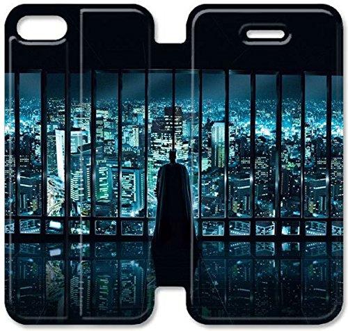 Coque iPhone 5 5S Coque Cuir, Klreng Walatina® PU Cuir de portefeuille de couverture Coque pour Coque iPhone 5 5S Design By Haut Batman Films Q1A8Qm