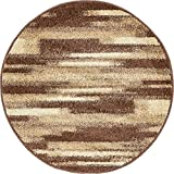 Unique Loom Autumn Collection Gradient Casual Warm Toned Brown Round Rug (3′ x 3′) Review