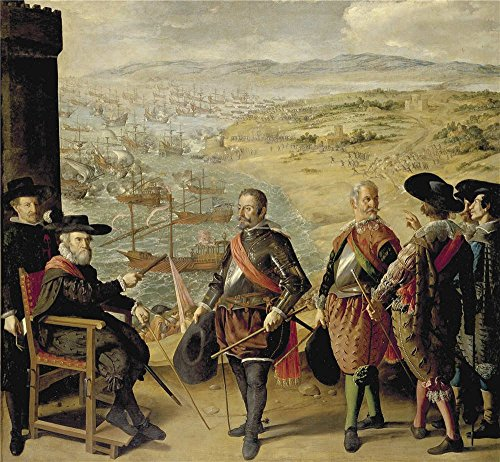 High Quality Polyster Canvas ,the Beautiful Art Decorative Canvas Prints Of Oil Painting 'Zurbaran Francisco De The Defense Of Cadiz Against The English 1634 ', 16 X 17 Inch / 41 X 44 Cm Is Best For Powder Room Artwork And Home Gallery Art And Gifts