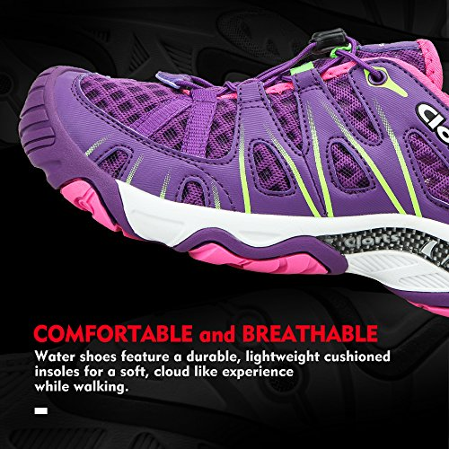 Closed Women's 3H025 Hiking Water Drying Toe Clorts Quick Shoe Purple Deep Sandal qSwgUnxxtd