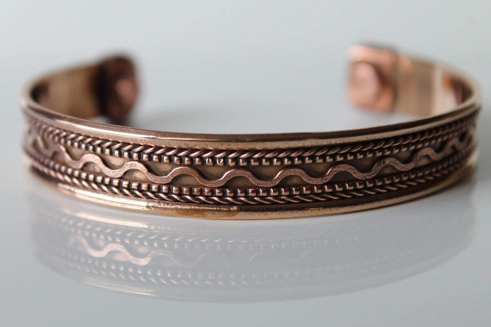 00cde9dd1d2 Unisex Men Women Pure Magnetic Copper Bracelet Arthritis Pain Relief ...