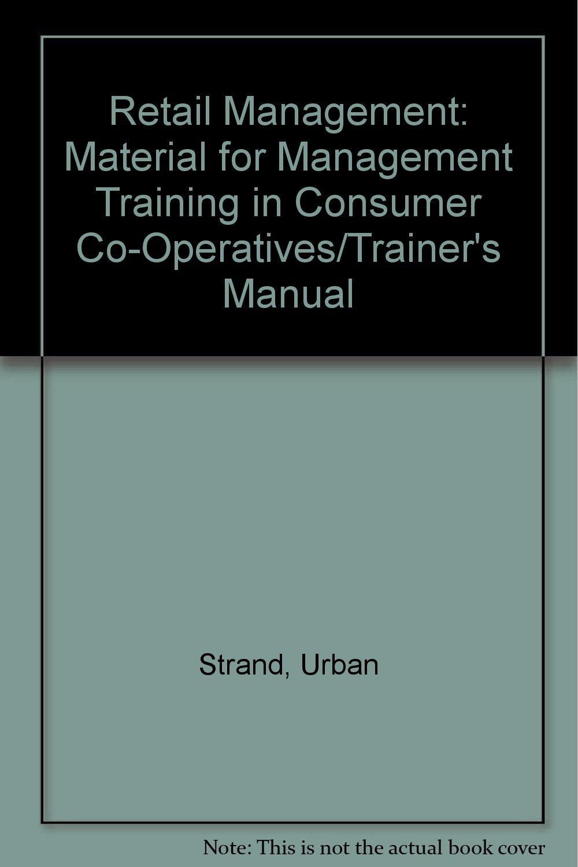 retail manager training manual