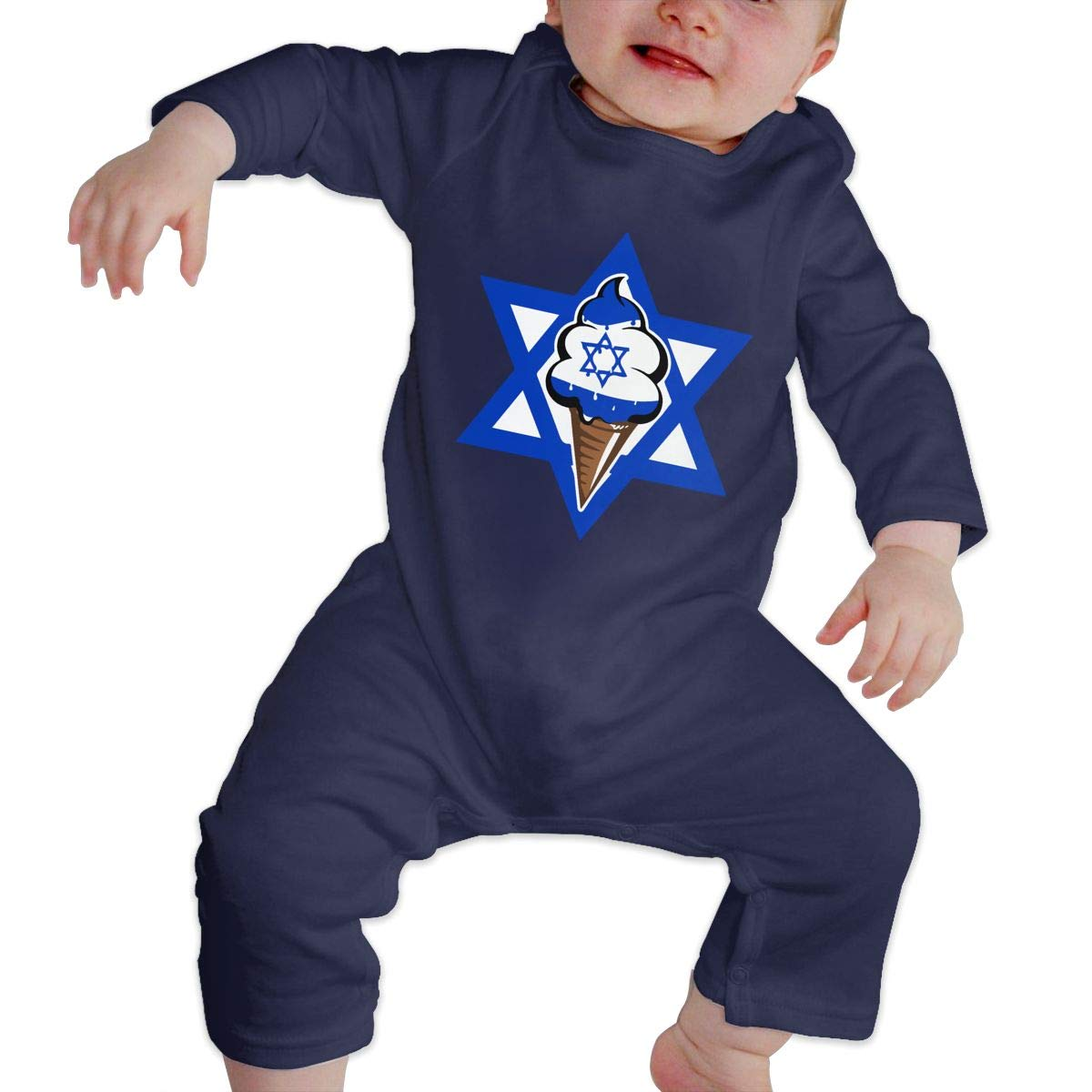 Newborn Baby Coverall Israeli Flag Funny Ice Cream Baby Rompers