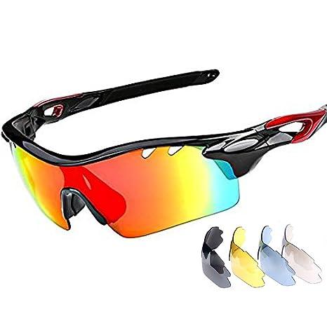 Gafas de sol deportivas Ciclismo gafas con 5 lentes ...
