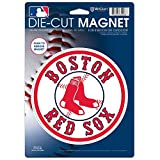 MLB Boston Red Sox 26842014 Die Cut Logo Magnet, Small, Black