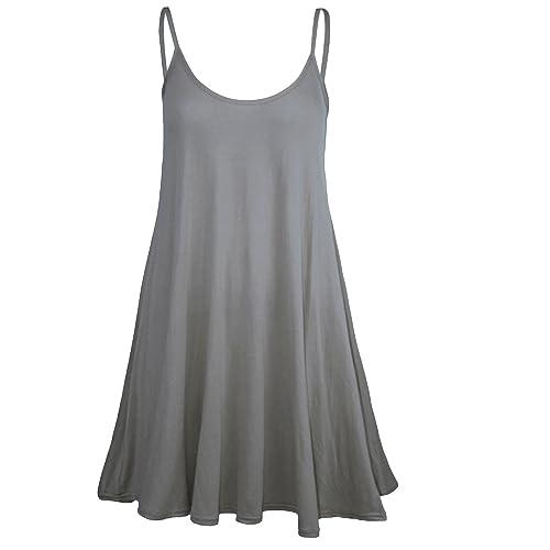 Forever Womens Plain Sleeveless Strappy Swing Dress