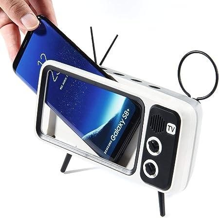 Fengxian Estilo Retro TV Amplificador de Pantalla para Teléfono 3D, Lupa Movil Smartphone, Ampliador Pantalla Movil para iPhone, Samsung y Todos Los Otros Teléfonos Inteligentes,Gris: Amazon.es: Hogar