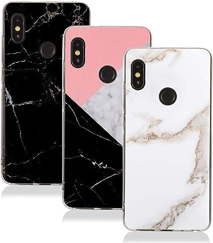 3X Funda Xiaomi Redmi Note 5, XiaoXiMi Funda Mármol Suave TPU Gel Case Cover Cáscara [Ultra-Fina] [Anti-Rasguño]: Amazon.es: Electrónica