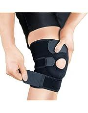 Bracoo Knee Support KS10, Open-Patella Stabiliser & Fully-Adjustable Neoprene Brace – Arthritic Pain Relief, Sports Injury Rehabilitation & Protection Against Reinjury – Single Sleeve