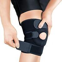 Bracoo Unisex's ZEM Knee Support KS10, Open-Patella Stabiliser & Fully-Adjustable Neoprene Brace – Arthritic Pain Relief, Sports Injury Rehabilitation & Protection Against Reinjury – Single Sleeve, Black, M