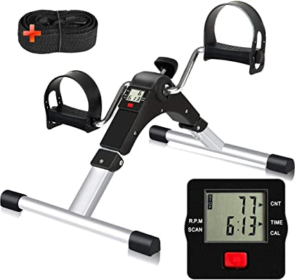 Medical Exercise Peddler Stationary Cycle Exerciser Desk Leg /& Arm Fitness Bike