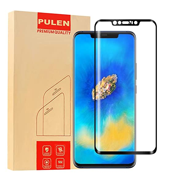 cheap for discount 85517 050a5 Pulen Screen Protector for Huawei Mate 20 Pro,HD Clear Scratch Resistance  Anti-Bubble Less Fingerprints Tempered Glass Film for Huawei Mate 20 Pro ...