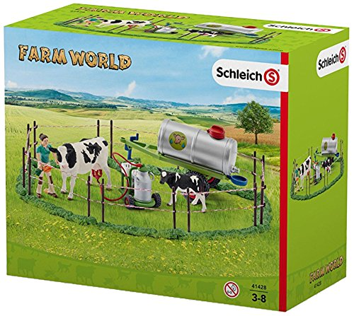 Schleich North America Cow Family On The Pasture Toy Figure (Big Barn Farm)