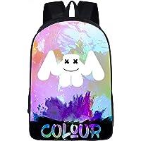 GD-fashion Marshmello Fans Mochila-mochila escolar para niños, mochila para computadora portátil, para viajes, al aire última intervensión