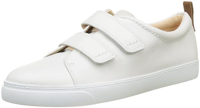 Clarks Glove Daisy Blanc - Chaussures Baskets basses Femme