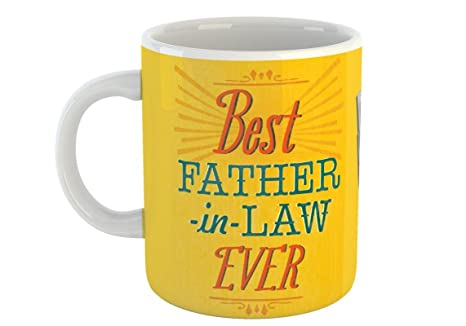 Best Father In Law Ever Coffee Mug Gift For Dad Happy Fathers Day White