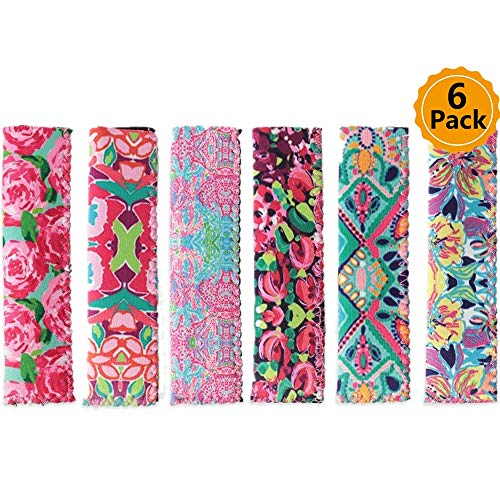(6Pcs Colorful Neoprene Reusable Washable Popsicle Holder Floral Frozen Anti-freezing Insulation Ice Pop Sleeves with Stitched Edges as Gift for Kids Gift Ice Cream Tools Flowers print style)