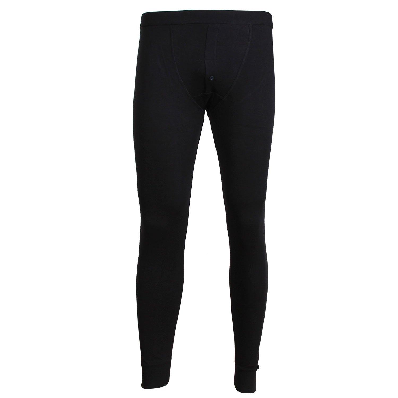 Godsen Mens 2-Pack Basic Baselayer Bottom Thermal Underwear Pants