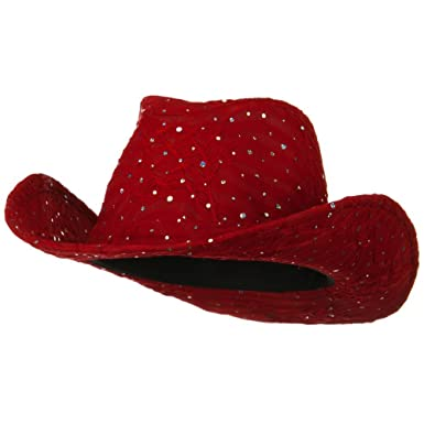 5cbb35e3 Glitter Cowboy Hat - Red at Amazon Women's Clothing store: Kids ...