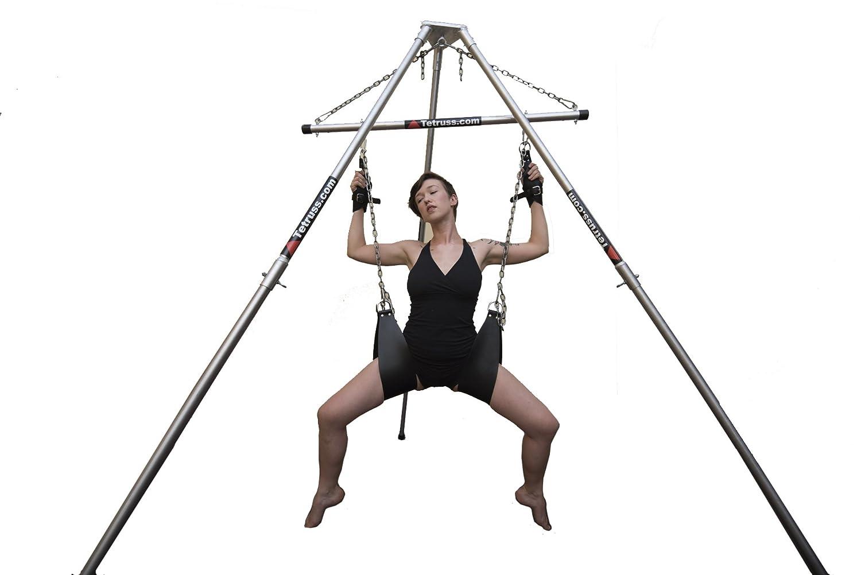 Amazon.com: Shibari Suspension Bondage Frame, Portable BDSM Dungeon & Sex  Swing by Tetruss - Deluxe Bundle + 1 pair leather suspension cuffs: Health  ...