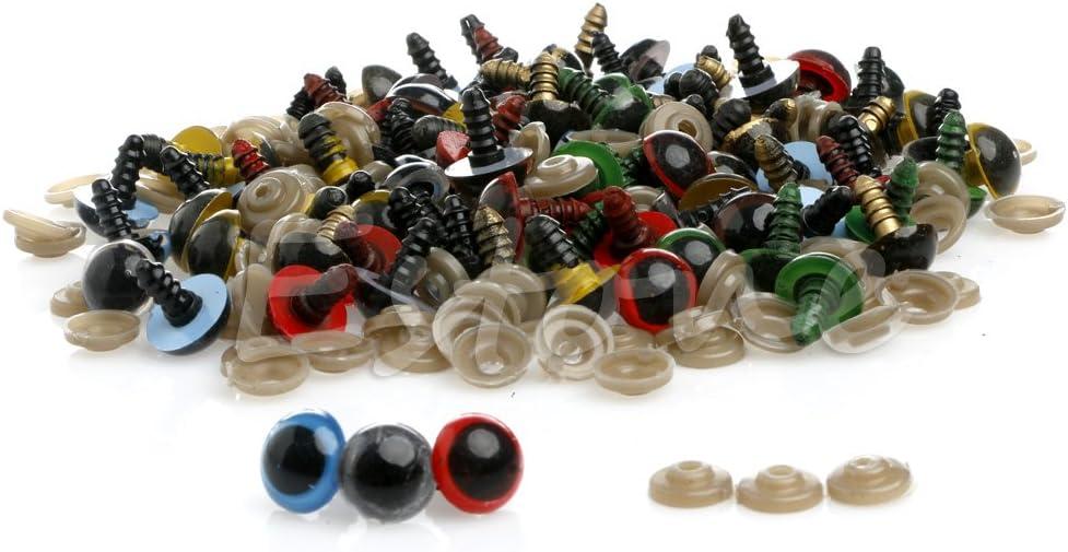 Kofun 100unidades 10mm Plástico Seguridad Ojos para oso de peluche muñeca Peluche Muñeca artesanía