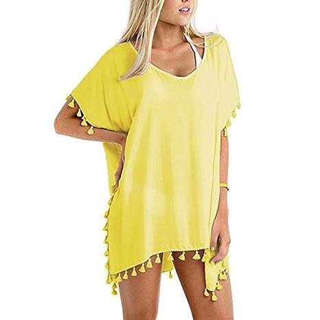 Amazon.com: Bata de Bikini bañadores vestido mujer de Gasa ...