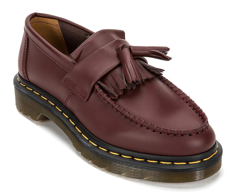 Adrian Yellow Stitch Tassel Loafer R22209 (UK 10 (US Men's 11) Cherry Red)